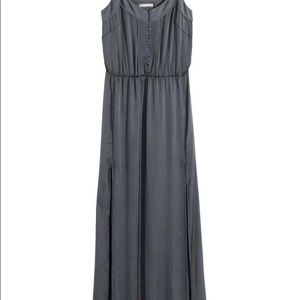 H&M Conscious Collection Grey Satin Maxi